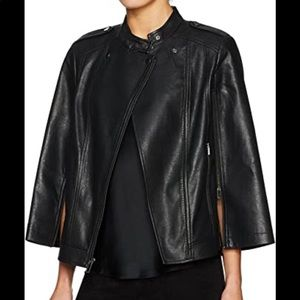 BCBG faux leather Caped motto jacket ❤️
